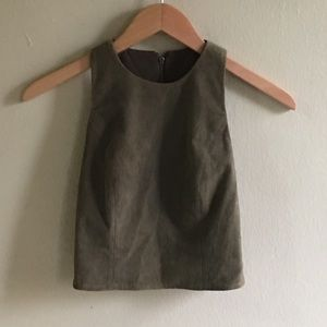 Alice And Olivia 100% Leather Crop Top